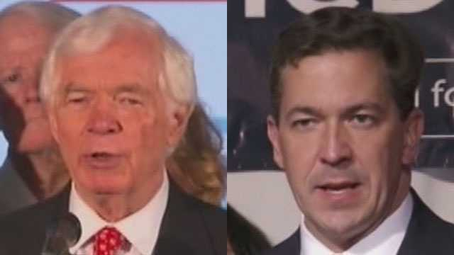 U.S. Sen. Thad Cochran and challenger Chris McDaniel