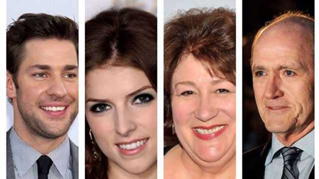 "The cast of ""The Hollars,"" John Krasinski, Anna Kendrick, Margo Martindale and Richard Jenkins."