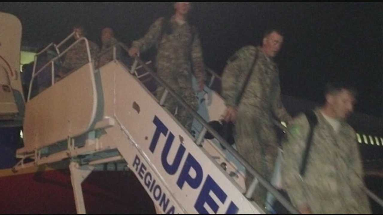 A Mississippi National Guard unit arrived in Tupelo early Thursday morning after serving a year in Afghanistan.