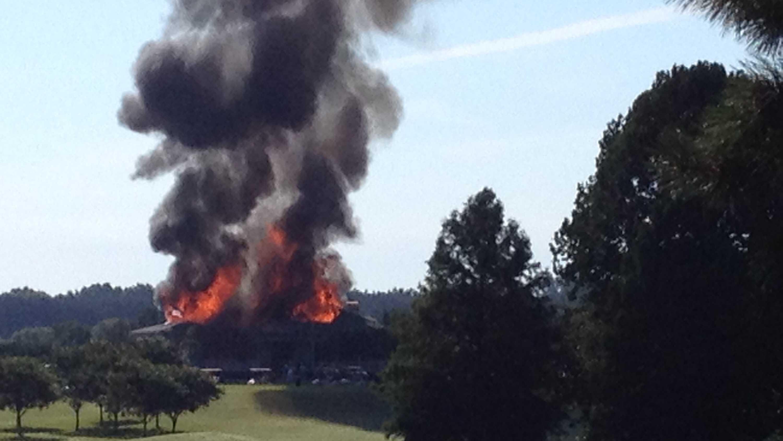 Lake Caroline fire