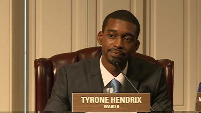 Tyrone Hendrix is sworn in to the Jackson City Council.