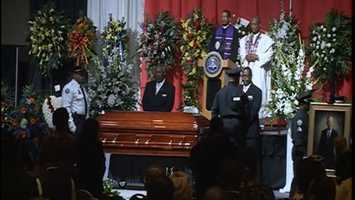 No. 5: Hundreds attend a funeral in March for Jackson Mayor Chokwe Lumumba. Click here to see photos from the service.