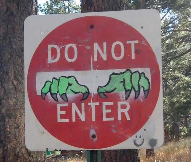 Click here for a look at some of the most amusing signs we could find.