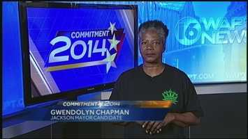Candidate for Jackson mayor Gwendolyn Chapman shares her unique platform in this video that went viral.