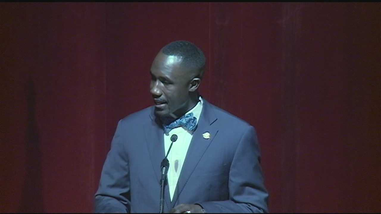 Jackson-mayor Tony Yarber gave his *first* State-of-the-City-address