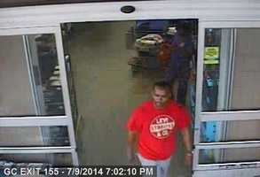 Cameras captured the images between July 5-9 at the Walmart in Vicksburg, police said.