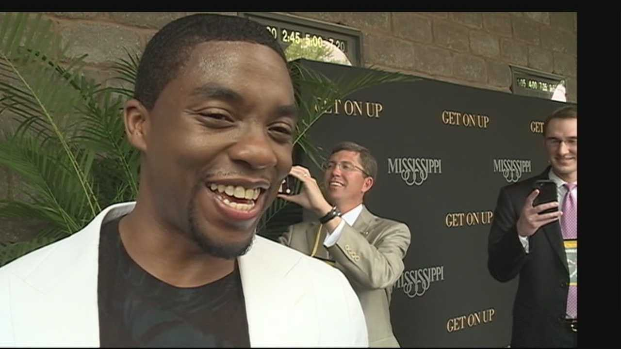 Big stars, and big crowds in Madison today for the premiere of the James Brown biopic -- shot entirely in Mississippi.