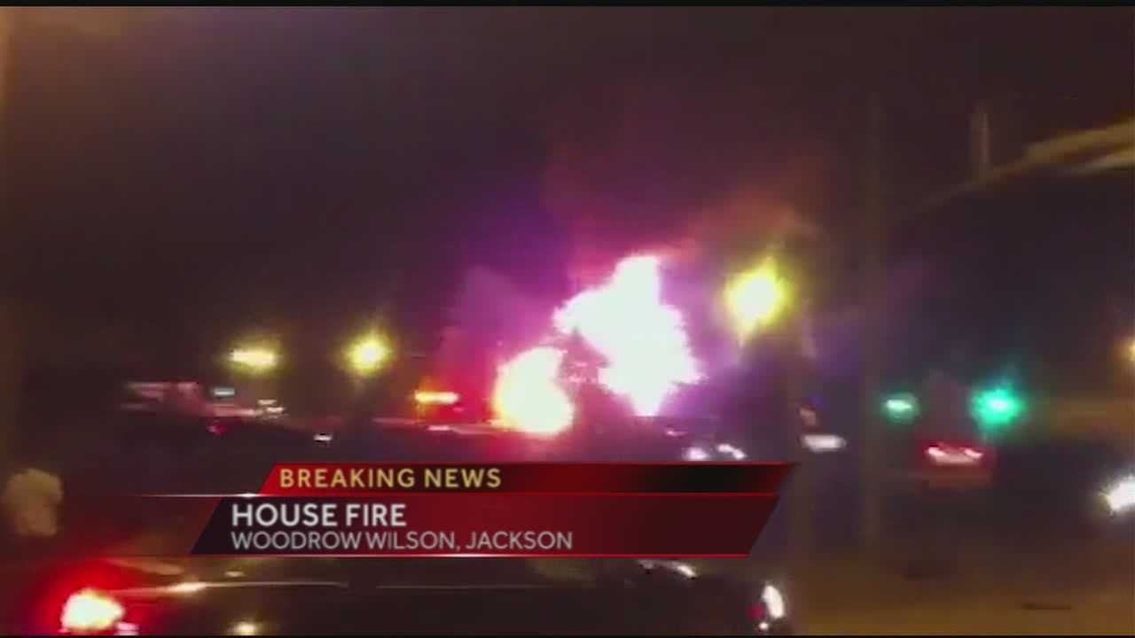 Breaking news right now, a house fire in Jackson