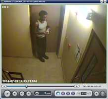 Byram police have released surveillance photos of an alleged burglar suspected of stealing food from a local hotel.