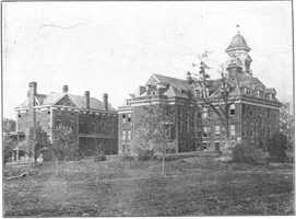 New campus before fire, rear view