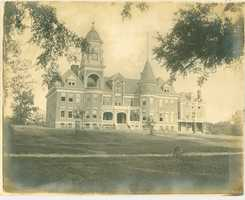 New campus before fire, front view