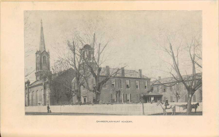 The original campus of Chamberlain-Hunt Academy, 1898.