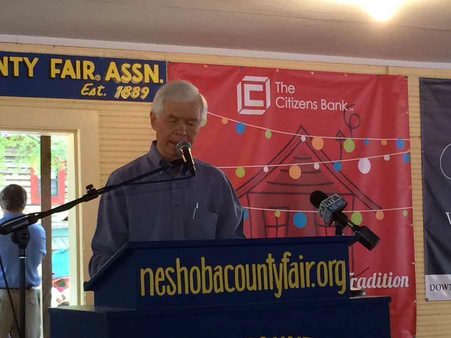 U.S. Sen. Thad Cochran, R-Miss., spoke after his Democratic opponent at the Neshoba County Fair.