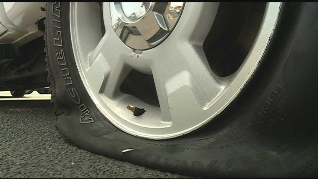 Vandals targeted a Jackson car-dealership, leaving behind a lot of flat-tires.