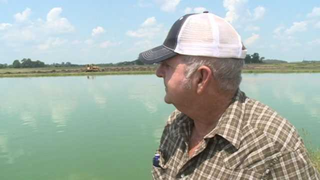 Catfish farmer Michael Pruden