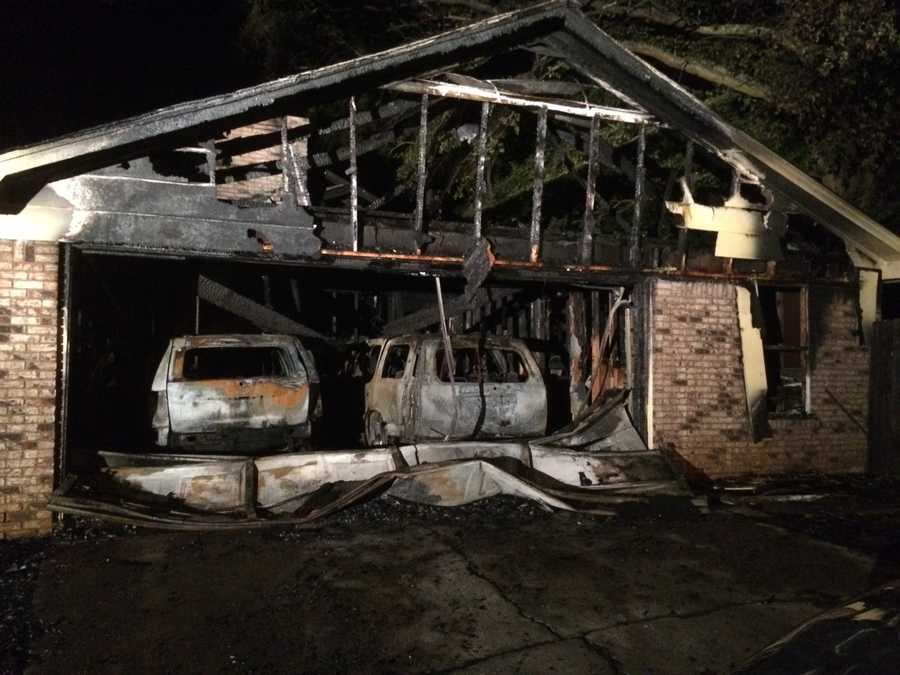 A Jackson family escapes a fire that burned their home to the ground.