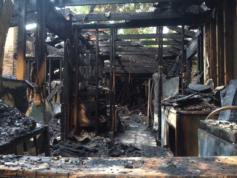 The family said they heard popping noises before the flames kicked up.
