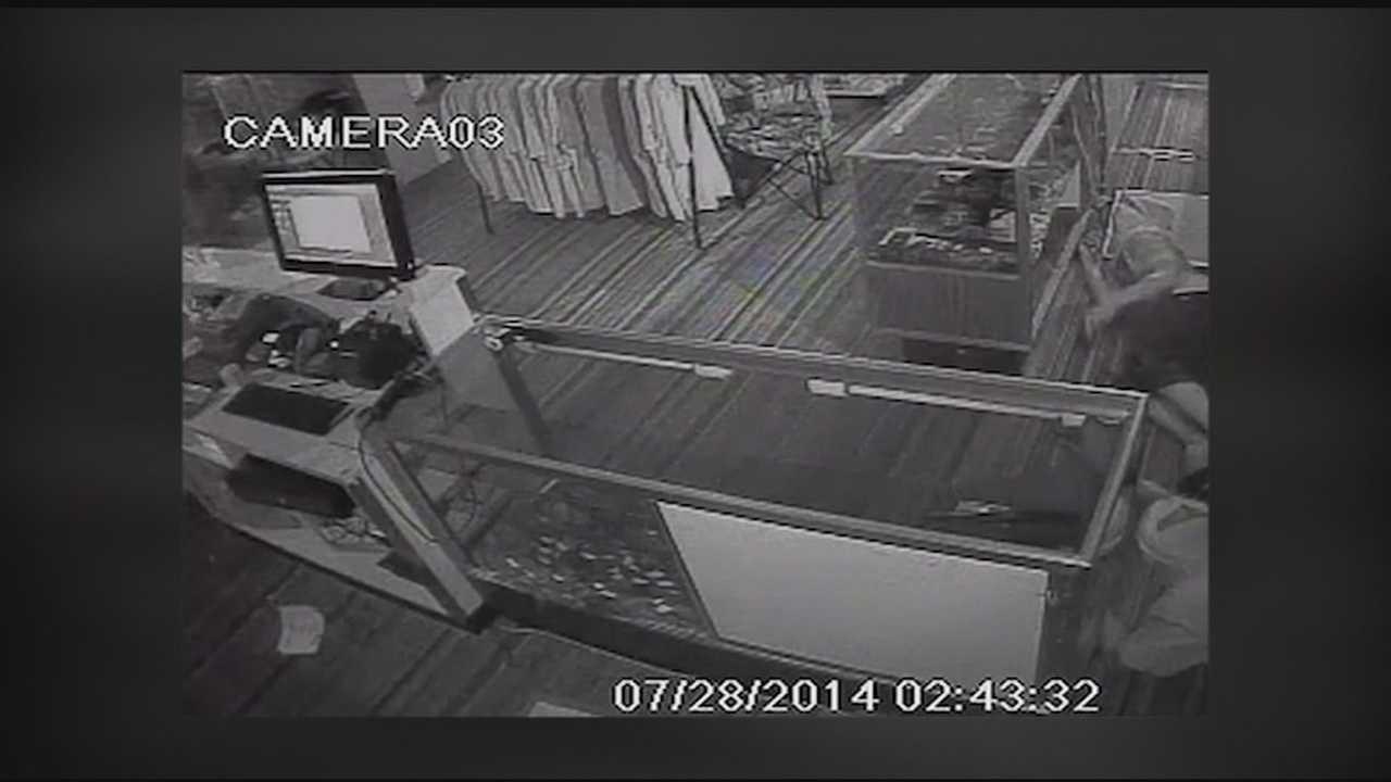 Gun store burglary surveillance