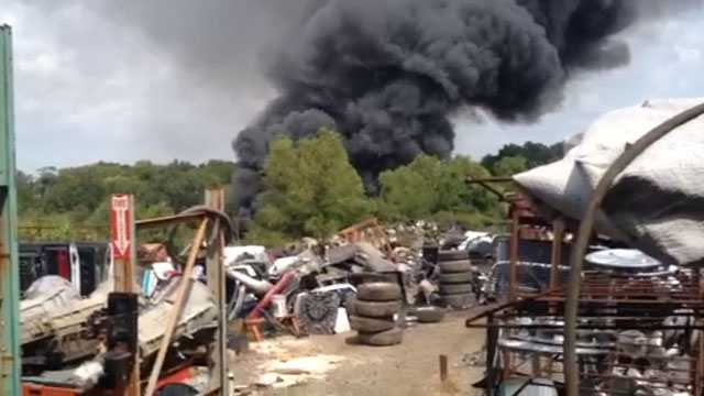 salvage yard fire 2