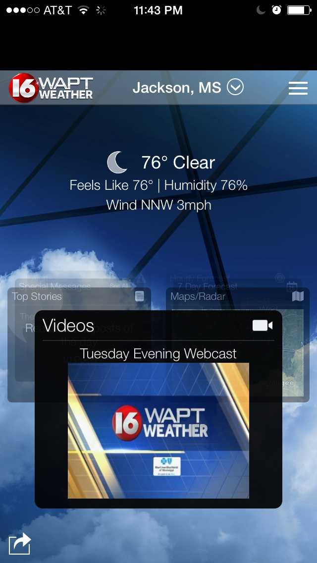 Just search WAPT in the app store to find the new Weather App. iPhone app store&#x3B; Google Play.