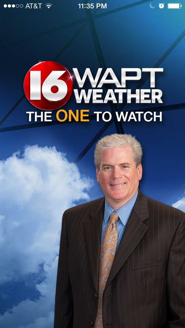 You can get the forecast from 16 WAPT Chief Meteorologist David Hartman on the new weather app. iPhone app store