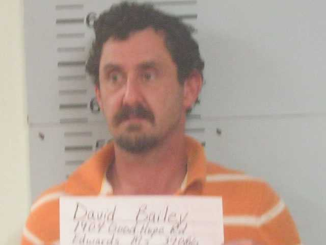 David Bailey, of Edwards, is charged with possession of methamphetamine with intent to sell, the Warren County sheriff says.