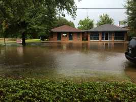 Tuesday's heavy rain created flooding in some areas of Jackson, including on Bounds Street at Word Center Church.