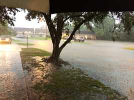 The flooding was so severe, services were canceled at the church.