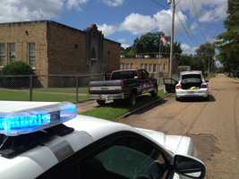 Three men in a truck that was reported as stolen led Jackson police on a chase Wednesday.