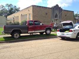 The chase went up Gallatin Street to Winter Street, where the truck got hung up on some guy wires.
