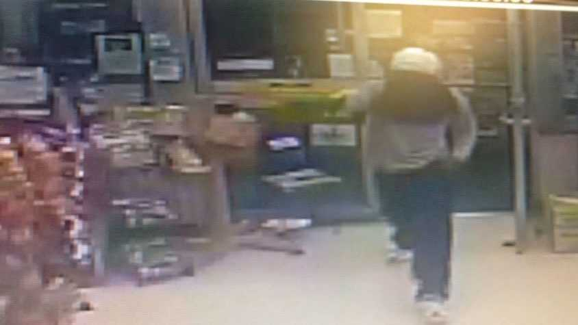 Surveillance cameras capture a robbery at the Gallman truck stop on Gallman Road in Copiah County.