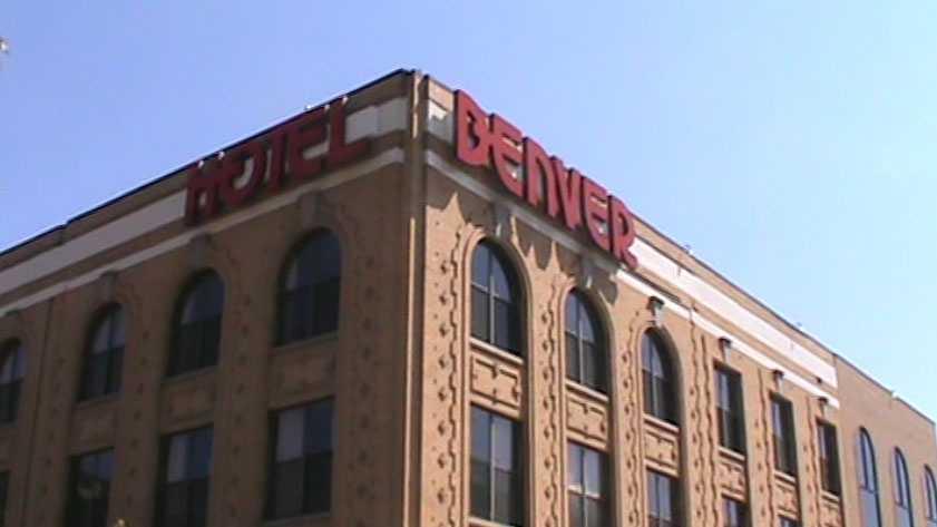 Bert spent the night in the Hotel Denver.