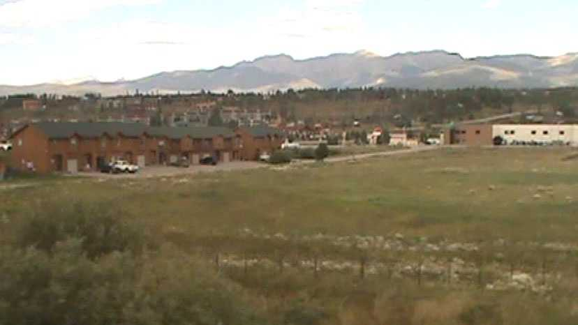The view from the train of Winter Park, Colo.