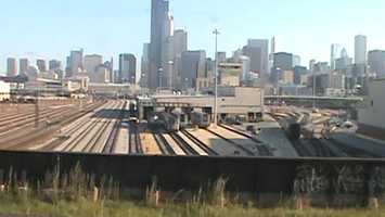 The Amtrak yards in Chicago.