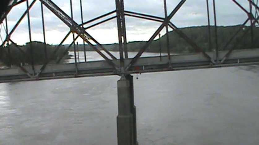 Crossing the Missouri River.