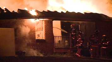 Jackson firefighters respond to a fire about 3:45 a.m. Tuesday at a home on Patann Street.