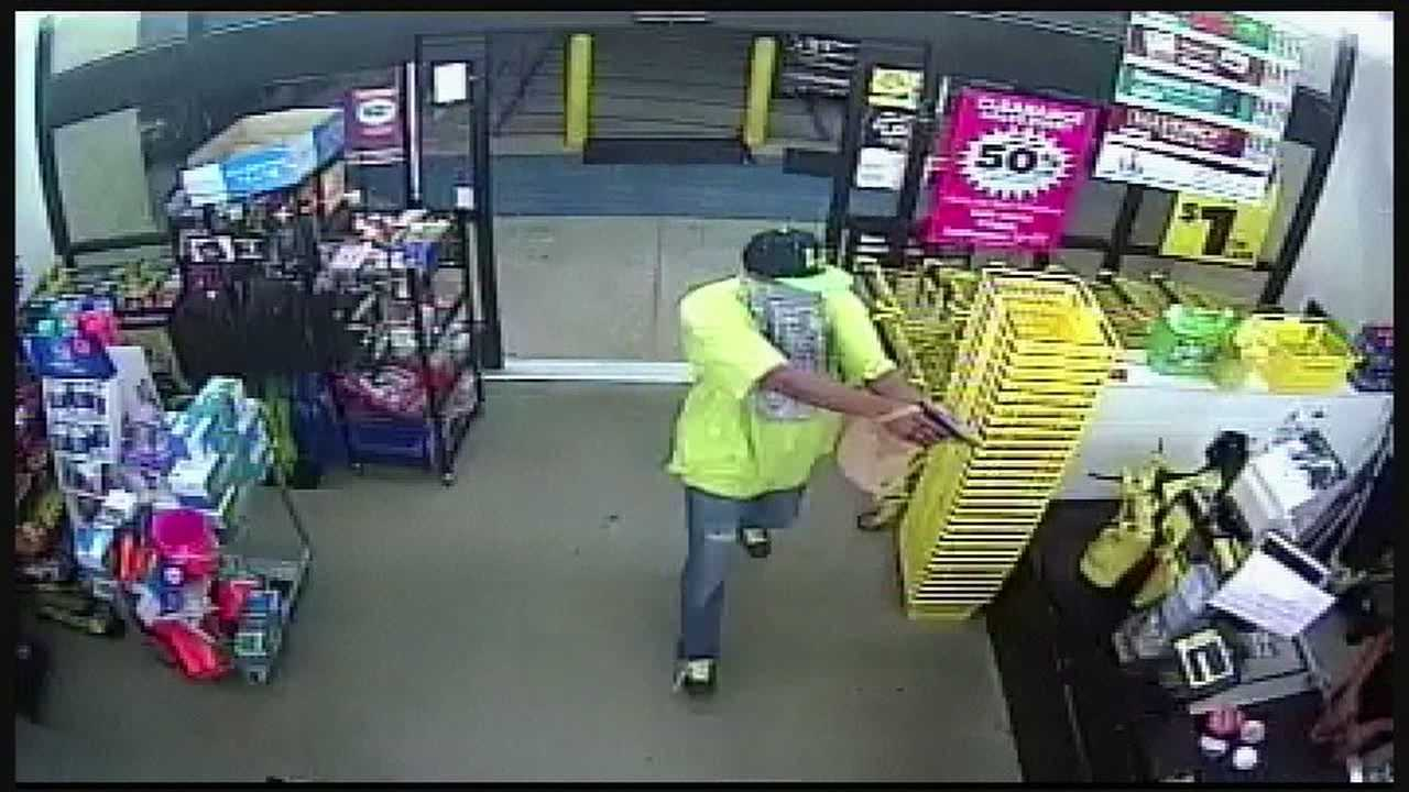 The Yazoo County Sheriff's Department releases surveillance video that shows an armed man robbing a Dollar General store.
