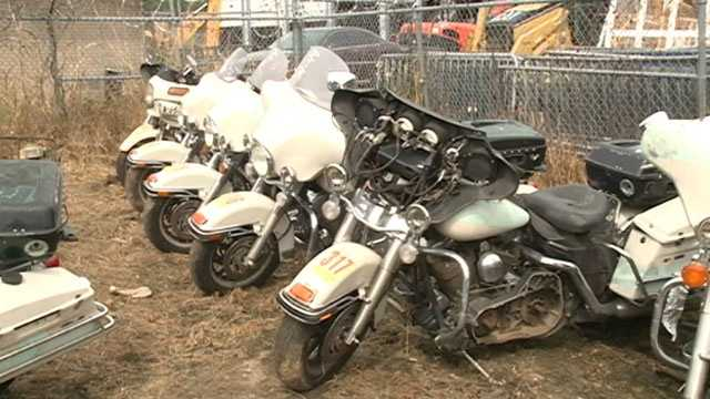Some Harley Davidson police motorcycles will be sold.