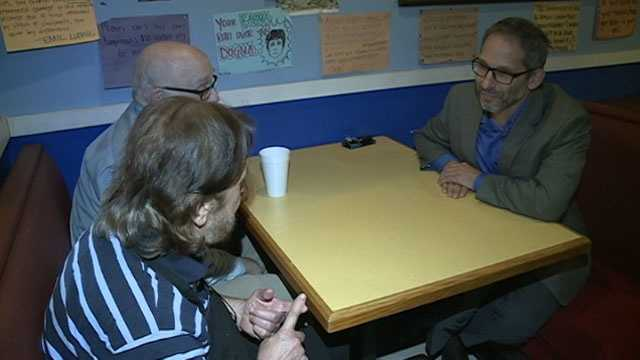 Wraps owner John Ellis sits down with Rabbi Ted Riter.