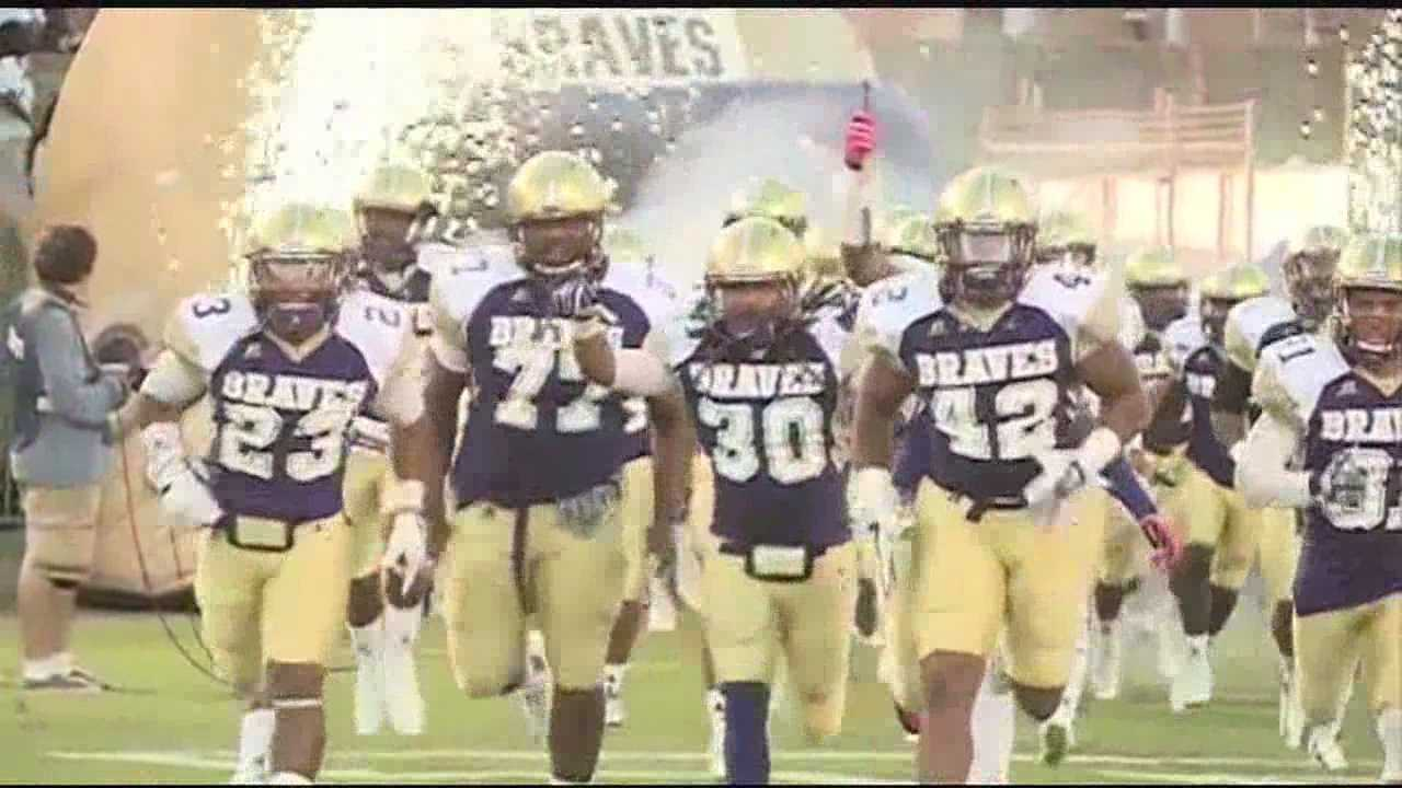 Alcorn St. 33, Alabama St. 7. Braves in sole possession of 1st place in the SWAC East.