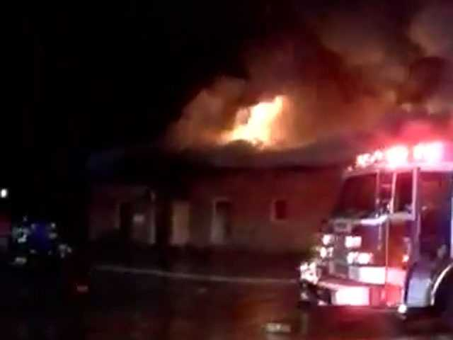 A Brandon law firm's office burns in downtown Brandon.