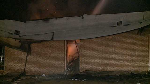 Firefighters were called back out to the fire after it rekindled a few hours later.