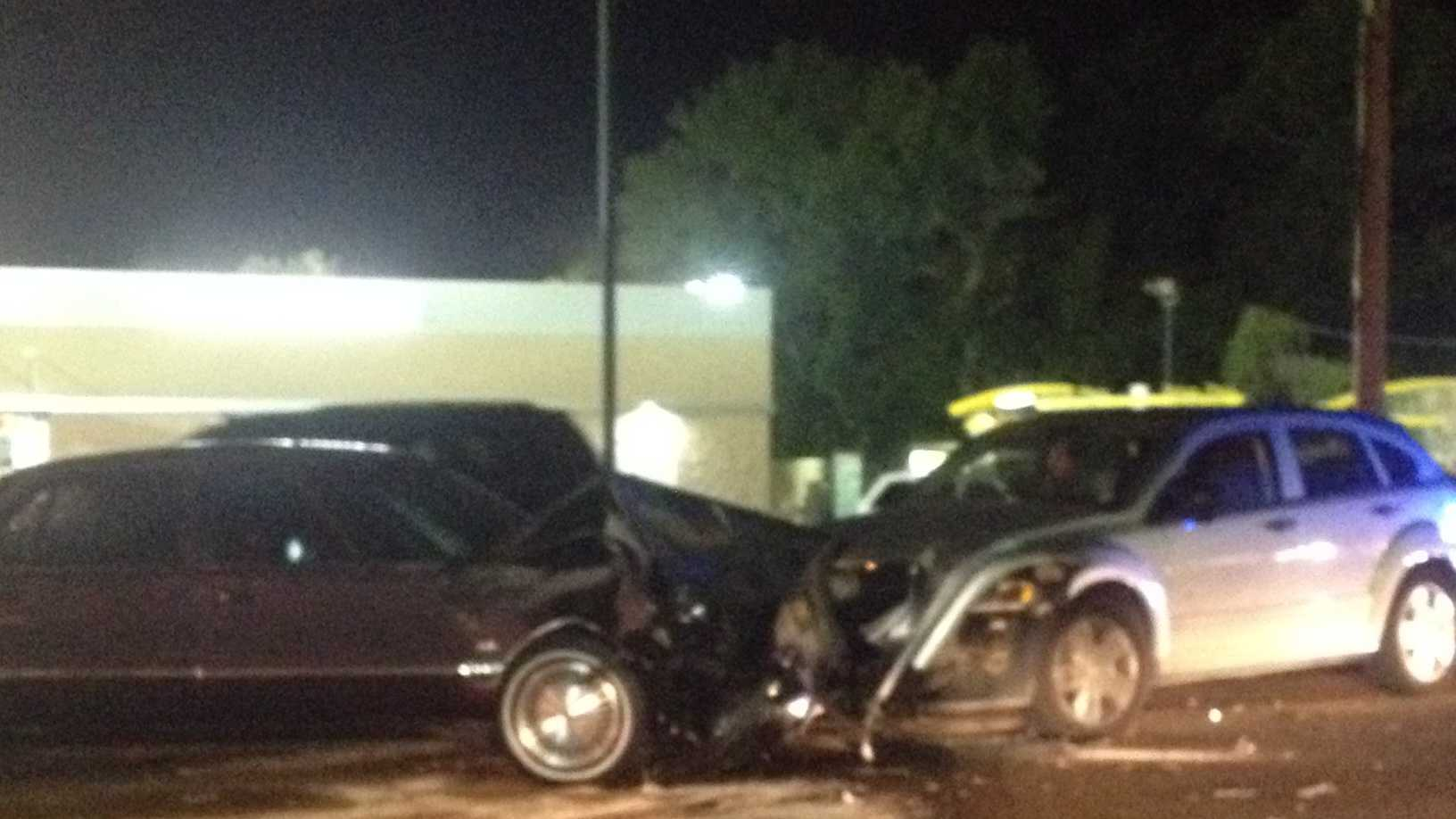 """Jackson police are investigating a head-on collision that may have occurred as a result of a """"rolling shootout."""""""