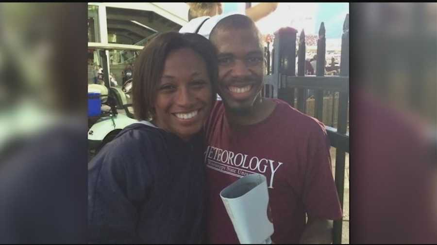 16 WAPT's Brittany Bell watched the MSU game with her fiance.