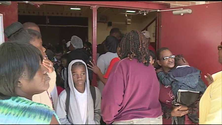 No. 11: An enormous crowd of parents pick up their children at Hazlehurst Middle School after learning the principal had returned from Zambia. Click here for video.
