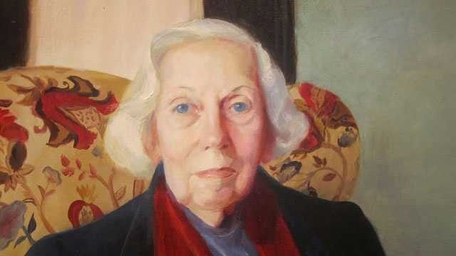 Eudora Welty as she appears in the National Portrait Gallery in Washington, D.C.