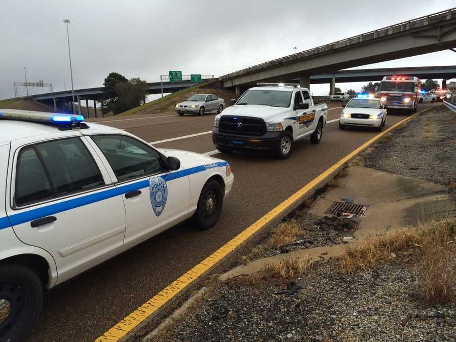Police were called to Interstate 55 near McDowell Road Thursday morning because of a crash that involved more than one vehicle.
