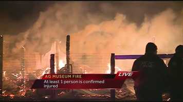 Commissioner Cindy Hyde-Smith says it was not immediately clear what started the fire Thursday evening.