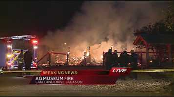 The state agriculture commissioner says no people or animals were killed or seriously injured in Thursday's large fire at the Mississippi Agriculture and Forestry Museum in Jackson.