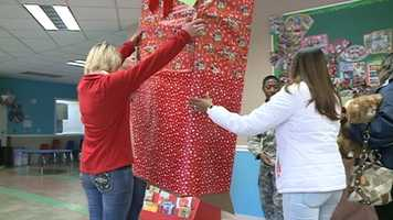 The daycare staff worked with Gabriel's mother Tarrah Pee to surprise him with an early Christmas gift.